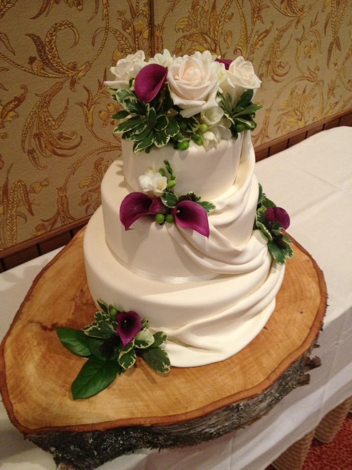 Drapery Wedding Cake
